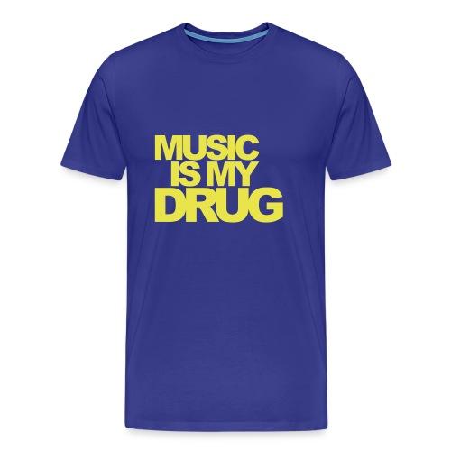 Music is my drug - Maglietta Premium da uomo
