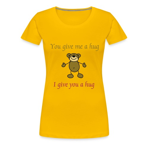 Beary Hug - Women's Premium T-Shirt