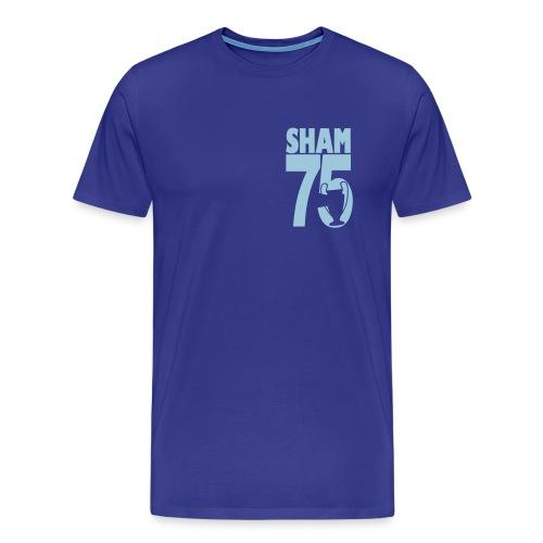 SHAM 75 - EUROPEAN CUP 75 - LEEDS SALUTE PLACEMENT - Men's Premium T-Shirt