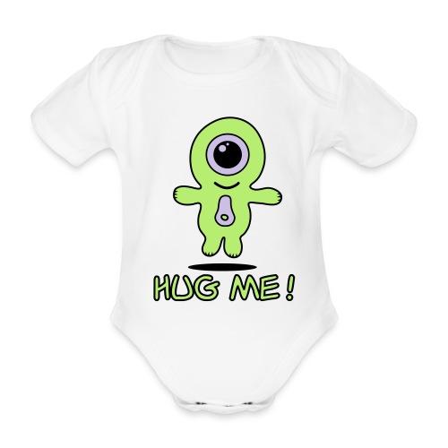 Hug the baby! - Ekologisk kortärmad babybody