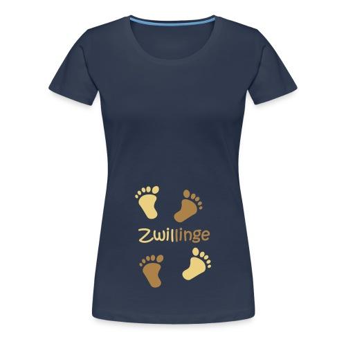 Zwillinge Baby XXL navy hell - Women's Premium T-Shirt