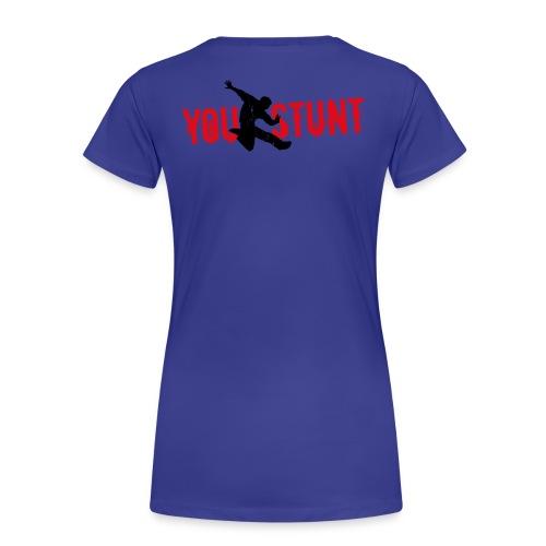 T-Shirt klassisch, Divablau, Logo Rückseite - Frauen Premium T-Shirt