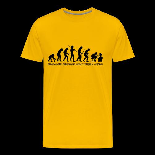 wrong evolution - Men's Premium T-Shirt