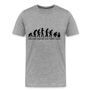 wrong evolution - Men's Premium T-Shirt