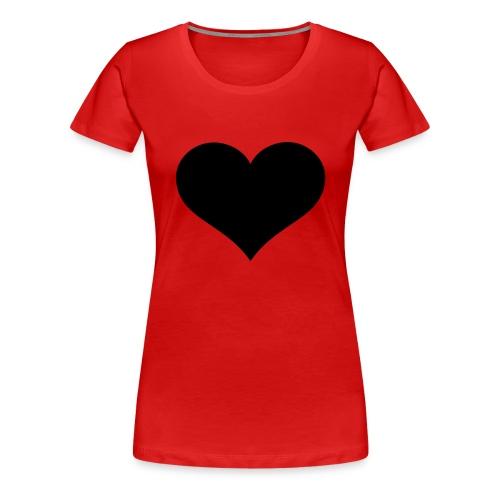 Black Heart - Women's Premium T-Shirt