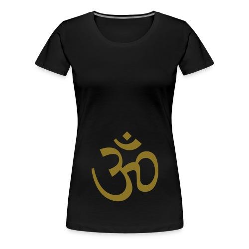 OM XXL black, schwarz gold - Women's Premium T-Shirt