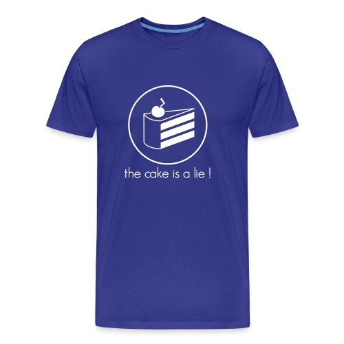 T-Shirt Homme - The Cake Is A Lie - T-shirt Premium Homme