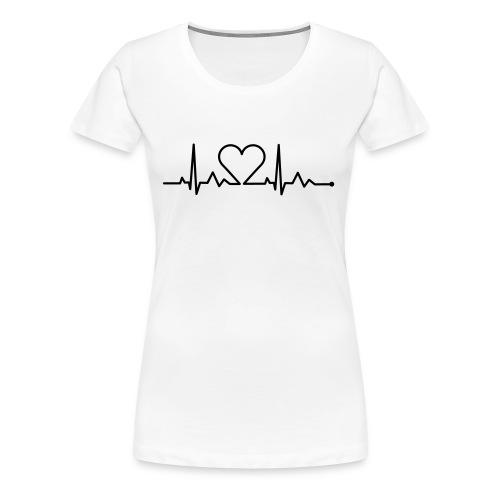 Heartbeat - Frauen Premium T-Shirt