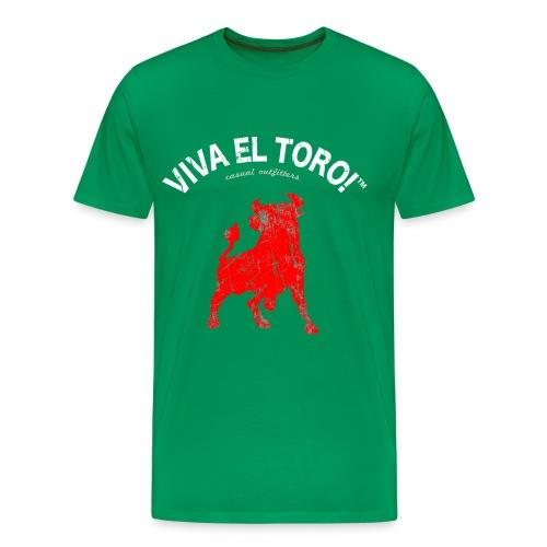 Viva El Toro! Classic    Toro Rosso on khaki - Men's Premium T-Shirt