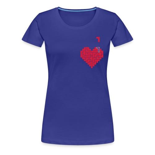 Tetris Heart - T-shirt Premium Femme