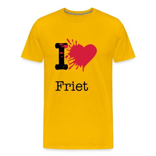 I love friet! - Mannen Premium T-shirt
