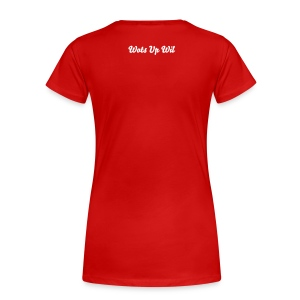 Wots Up Wil (BACK: Wots Up Wil) - Women's Girlie Shirt  - Women's Premium T-Shirt