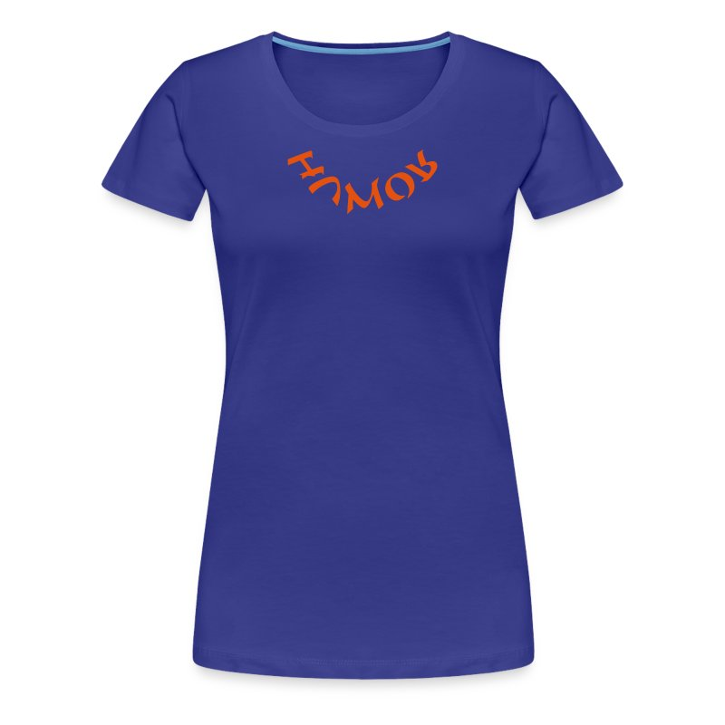 HUMOR orange neon - Frauen Premium T-Shirt