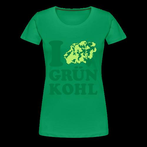 i love grünkohl | girlie t-shirt | für grünkohl und kohlfahrt - Frauen Premium T-Shirt