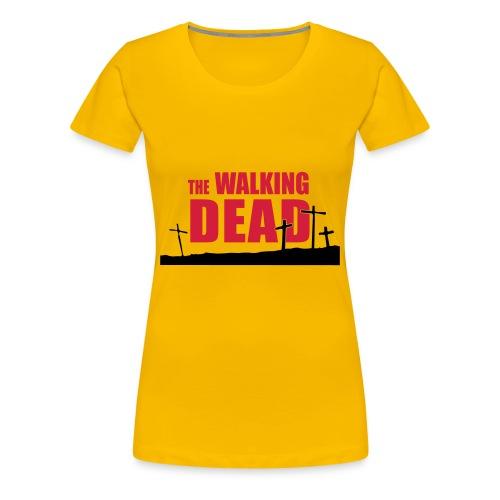 camiseta walking dead - cruces - chica manga corta - Camiseta premium mujer