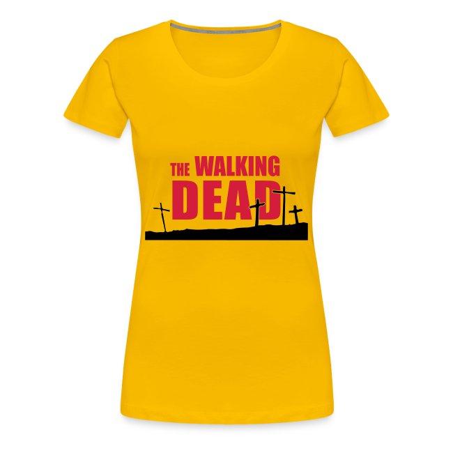 camiseta walking dead - cruces - chica manga corta