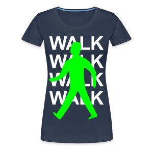 GIRLS Green man walk! - WHITE TEXT - Women's Premium T-Shirt