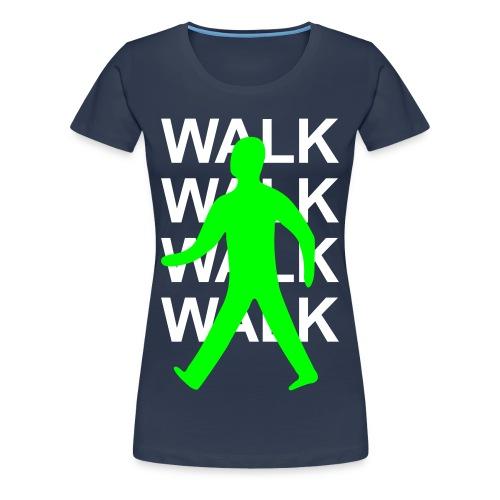 GIRLS Green man walk! - WHITE TEXT - Women's Premium T-Shirt