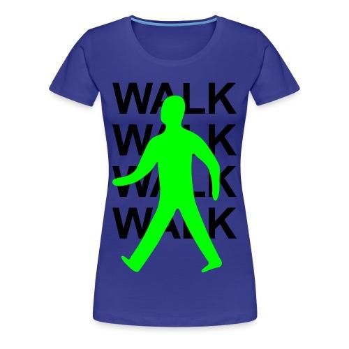 GIRLS Green man walk! - BLACK TEXT - Women's Premium T-Shirt