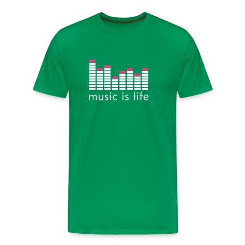 music is life bog men - Männer Premium T-Shirt