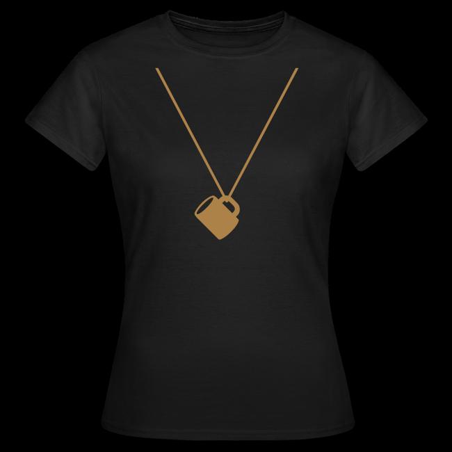 schnapsglas am band   frauen t-shirt   für grünkohl, kohlfahrt und junggesellenabschied