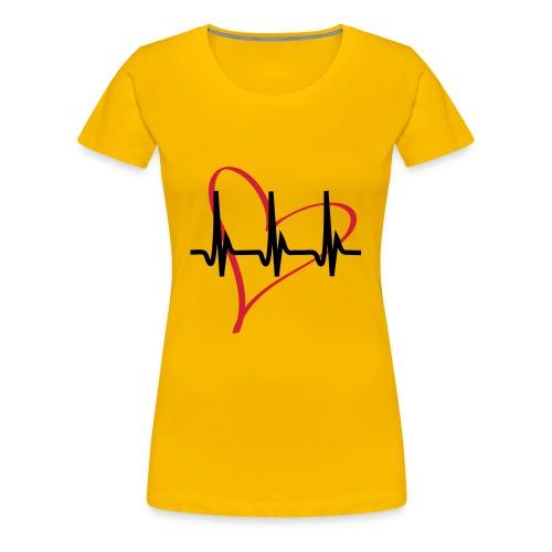Heartbeat rosa - Frauen Premium T-Shirt