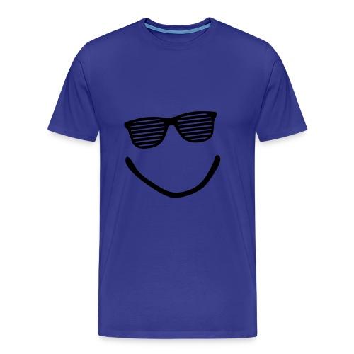 Smile - Shirt (Divablauw/White) - Mannen Premium T-shirt