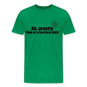 Ah, gravity (Sheldon S03E11) mannenshirt - Mannen Premium T-shirt