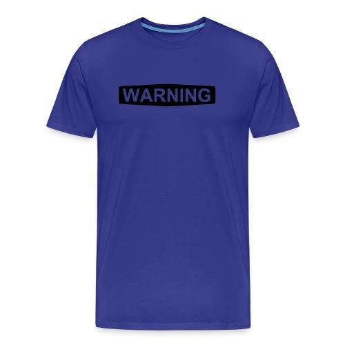 Warning - Premium T-skjorte for menn