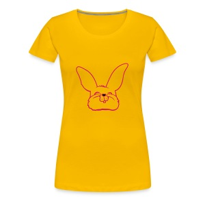 Bunny (writing on back) - Women's Premium T-Shirt