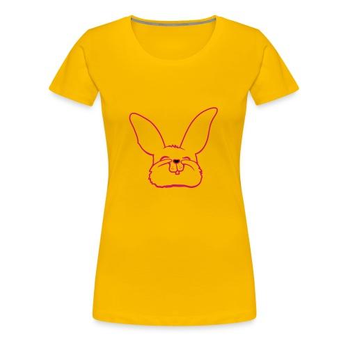 Bunny (writing on back) - Women's Premium T-Shirt