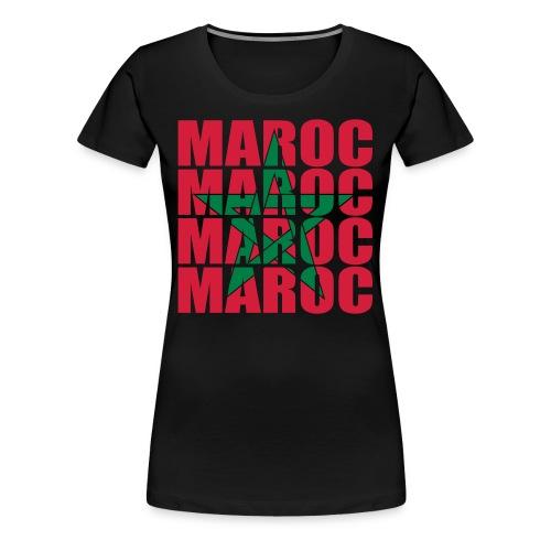 T-shirt Basique Femme G.A.V. Maroc - T-shirt Premium Femme