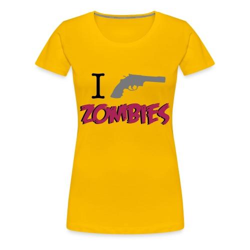 camiseta walking dead - i shoot zombies - chica manga corta - Camiseta premium mujer