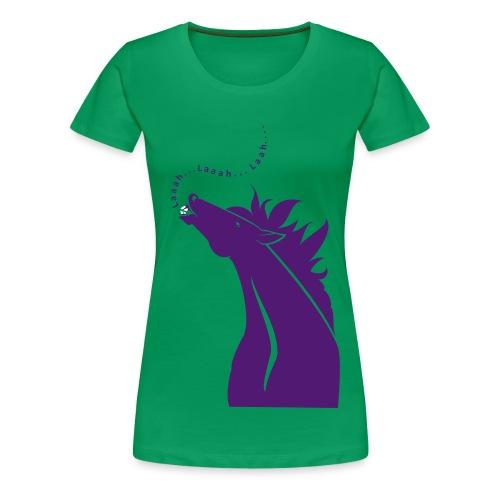 Singende Pferd - Frauen Premium T-Shirt