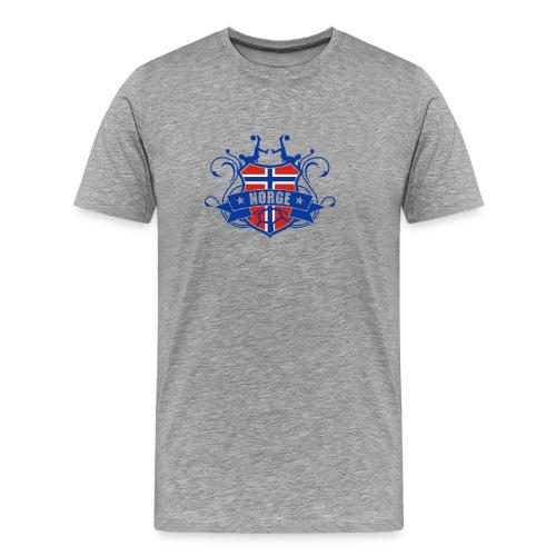 Fotball NORGE - Premium T-skjorte for menn