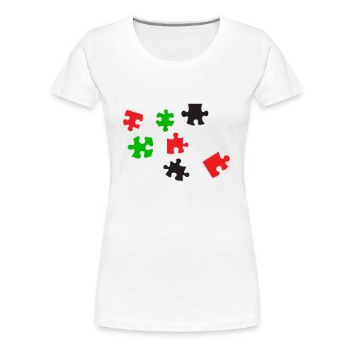 Er ontbreekt een stukje - Vrouwen Premium T-shirt