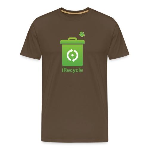 Ik recycle. Heren shirt - Mannen Premium T-shirt