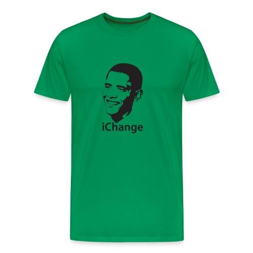 iChange Obama - Mannen Premium T-shirt