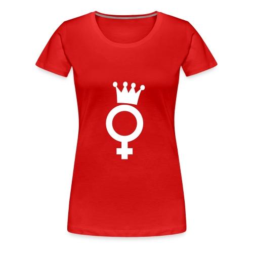 Dramaqueen White Logo Rechts Big - T-Shirt - Frauen Premium T-Shirt