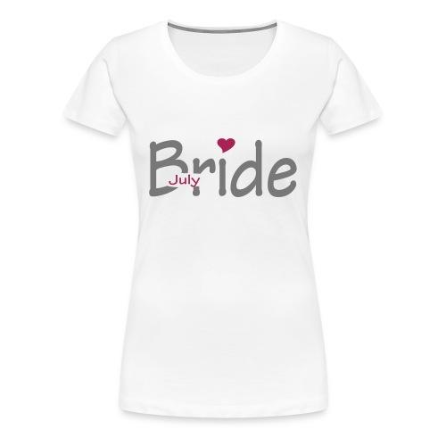 Wedding Month Fitted T Shirt - Women's Premium T-Shirt