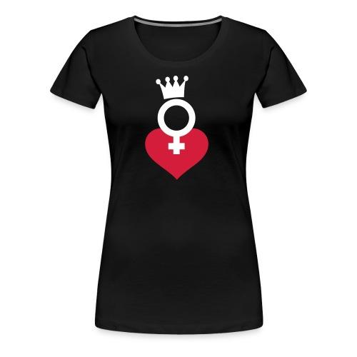 DRAMA QUEEN Herzlogo - T-Shirt - Frauen Premium T-Shirt