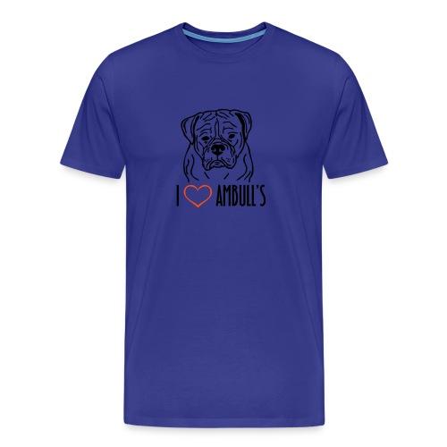 I Love Ambulls - Men's Premium T-Shirt