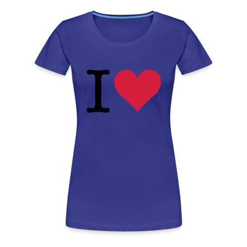 i love - T-shirt Premium Femme