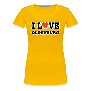 girlie t-shirt  i love oldenburg | frauen girlieshirt für oldenburg liebhaber - Frauen Premium T-Shirt