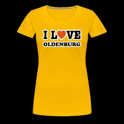 girlie t-shirt  i love oldenburg | frauen girlieshirt für oldenburg liebhaber - Frauen Premium T-Shirt