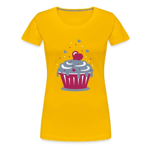 Sweet Cupcakes Fitted T Shirt - Women's Premium T-Shirt