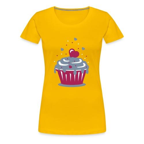 Sweet Cupcakes Fitted T Shirt - Women's Premium T-Shirt