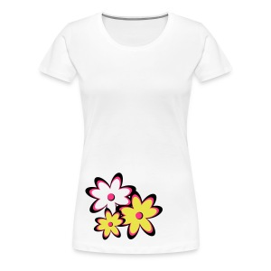 Girlieshirt Flower - Frauen Premium T-Shirt
