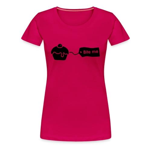 Bite Me Cupcake Women's Tshirt - Women's Premium T-Shirt