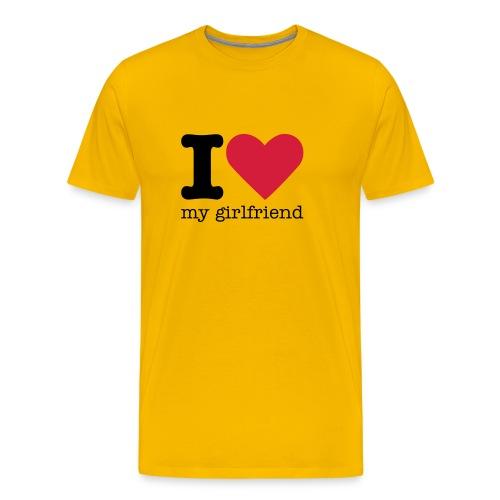 I Love my girlfriend shirt - Mannen Premium T-shirt